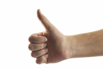 Hand, die Daumen hoch, Nahaufnahme