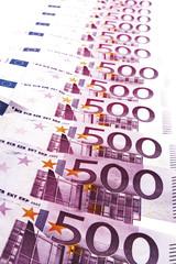 Fünfhundert Euro-Banknoten, Nahaufnahme