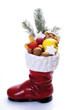 Weihnachtsmann, Boot voller Früchte, Nahaufnahme