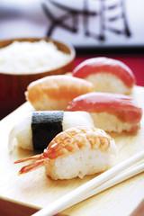 Verschiedene Arten von Nigiri-Sushi