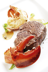 Surf and Turf, Filetsteak mit Meeresfrüchten