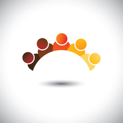 Abstract colorful office staff or employees sign(icon)- vector g