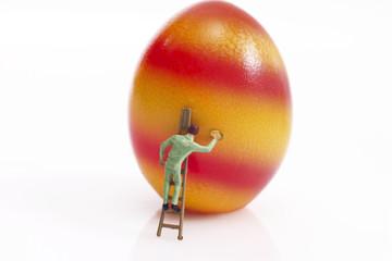Mann, Malerei, Osterei