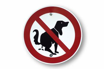 Hunde verbotenen Zeichen, Nahaufnahme