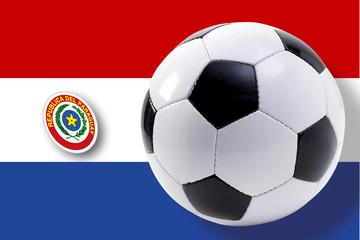 Fußball vor Paraguay Flagge