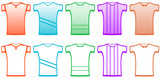 clothes set isolated sports t-shirts