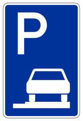 Parken ganz auf Gehwegen in Fahrtrichtung rechts