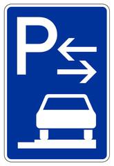 Parken ganz auf Gehwegen in Fahrtrichtung rechts (Mitte)