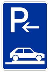 Parken ganz auf Gehwegen quer zur Fahrtrichtung rechts (Anfang)