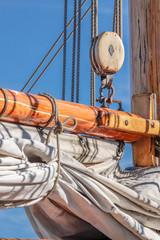 Masten eines großen Segelschiffes