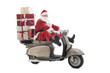 Santa Claus on vintage scooter