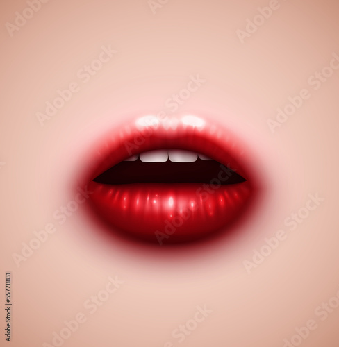 Background with lips