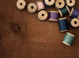 Old spools of thread