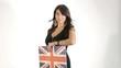 Ragazza Sexy con bandiera Inghilterra