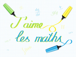 J'AIME LES MATHS (mathématiques école rentrée devoirs sciences)
