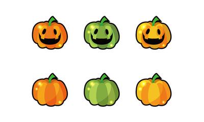 3色のハロウィンかぼちゃ