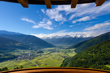 Balcony view in the Alps