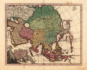 Asia vintage map