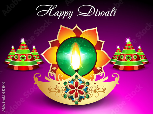 Diwali Background With Sparkle