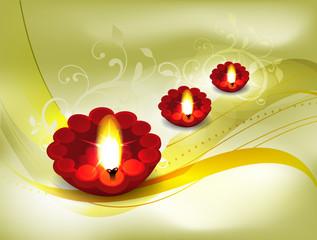 Golden Diwali Card Design