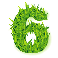 Grass vector numbers. Six.