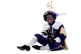 Zwarte Piet is throwing ginger nuts
