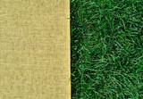 Green grass texture and sackings texture