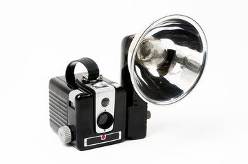 Classic Box Camera with Flash