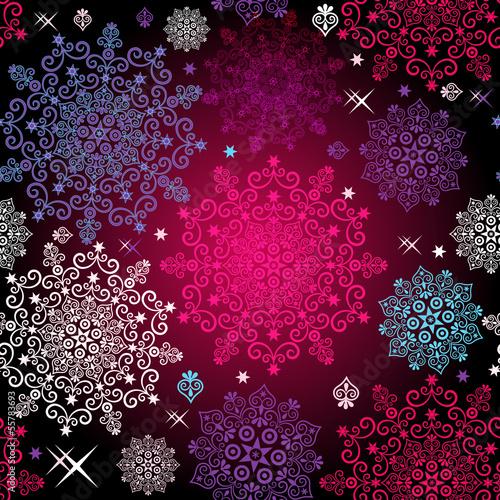 Seamless colorful christmas pattern