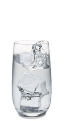 Water splashig of a glass