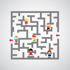 maze against game