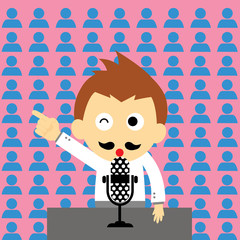 orator vector cartoon