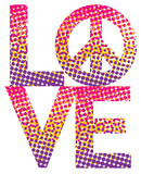 Love=Peace Halftone