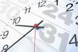Leinwandbild Motiv Kalenderuhr Termin - Konzept