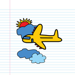 Plane cartoon sketch