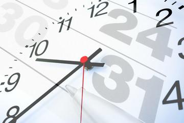 Kalenderuhr Termin - Konzept