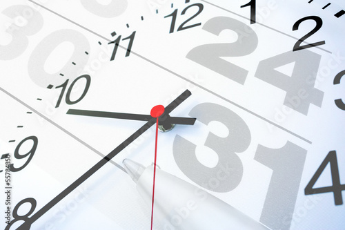 Kalenderuhr Termin - Konzept - 55784850