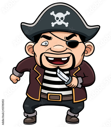 Vector illustration of Pirate