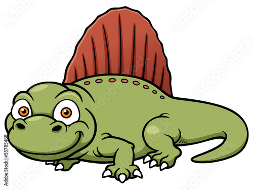 Vector illustration of dinosaur dimetrodon