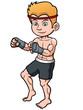 Vector illustration of Cartoon boxing