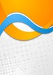Colourful corporate vector waves design