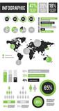 Vector Infographic Elements Set Green