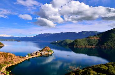 The enchanting scenery of Lugu lake