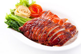 Roasted duck and vegetables, Chinese style