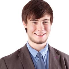 Portrait of the cheerful boy businessman