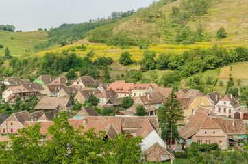 Medieval Mountain Town In Transylvania, Romania