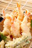 Japanese Cuisine prawn fire, Fried Shrimps
