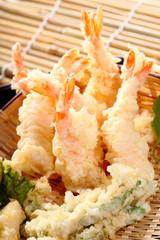 Japanese Cuisine prawn fire, Fried Shrimps