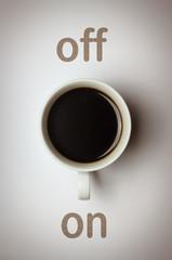 """""""Lichtschalter"""" Kaffee on/off Konzept"""