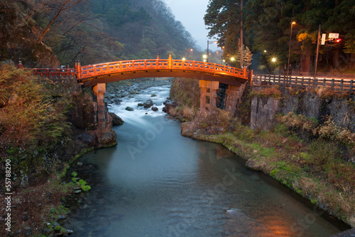 Shinkyo Bridge over Daiya-gawa in Nikko